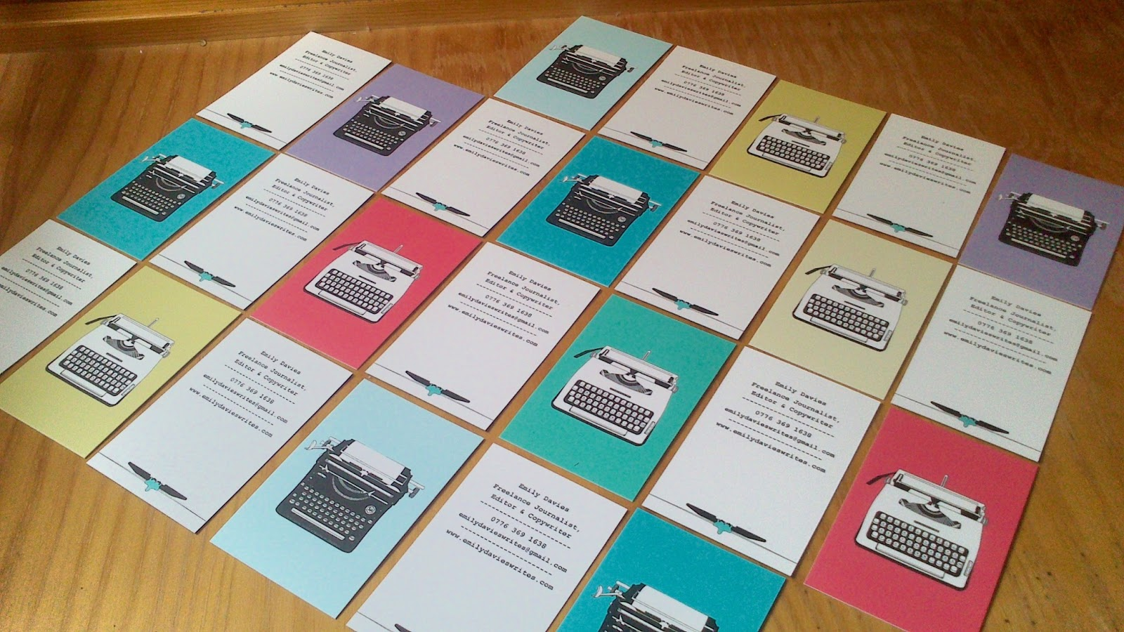 Vintage Typewriter Business Cards 2
