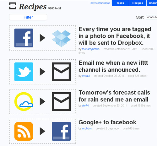 ifttt-receipes